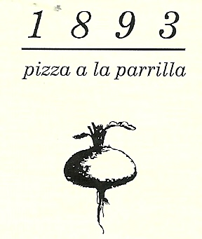 1893 Pizza a la parrilla