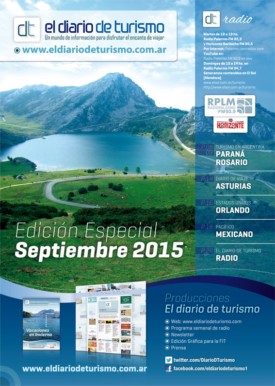 Revista El Diario de Turismo – Edición Septiembre 2015