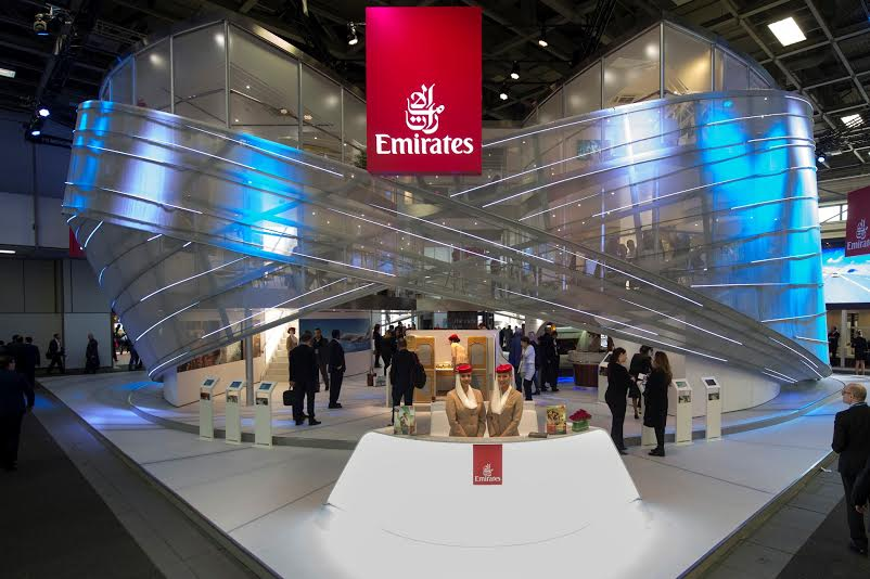 09 MAR 2013, BERLIN/GERMANY:Emirates Airline Stand at the Internationale Tourismus Boerse, ITB, Messe BerlinIMAGE: 20160309-01KEYWORDS: Internationale Tourismus Börse