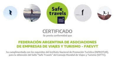 FAEVYT obtuvo el Sello Safe Travels de la WTTC